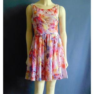BetseyJohnson Pink Multi Cotton Tie Dye Dress 6